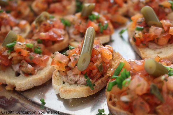 Bouchées saumon fumé et Cornichons de Kombu