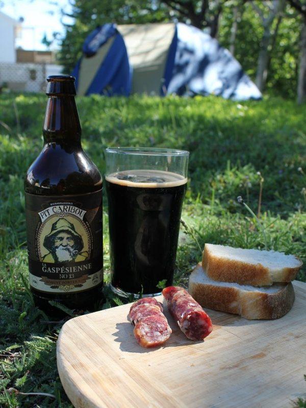 Saucisson en camping