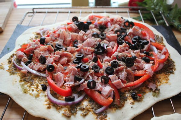 Pizza au Pesto de Dulse
