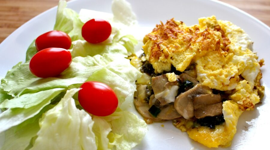 Omelette au fromage de chèvre et Pesto de Kombu