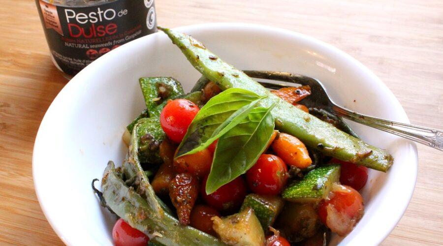 Légumes sautés au Pesto de Dulse