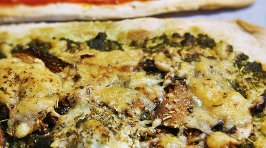 Pizza minute au Pesto de Kombu