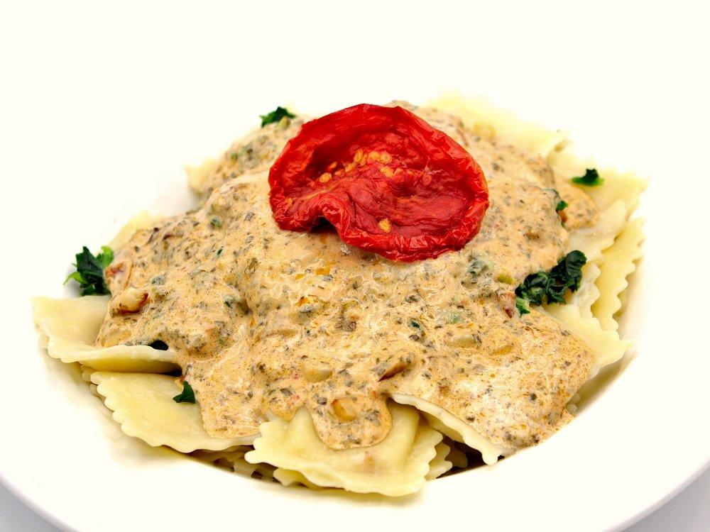 Raviolis sauce crémeuse au Pesto de Dulse