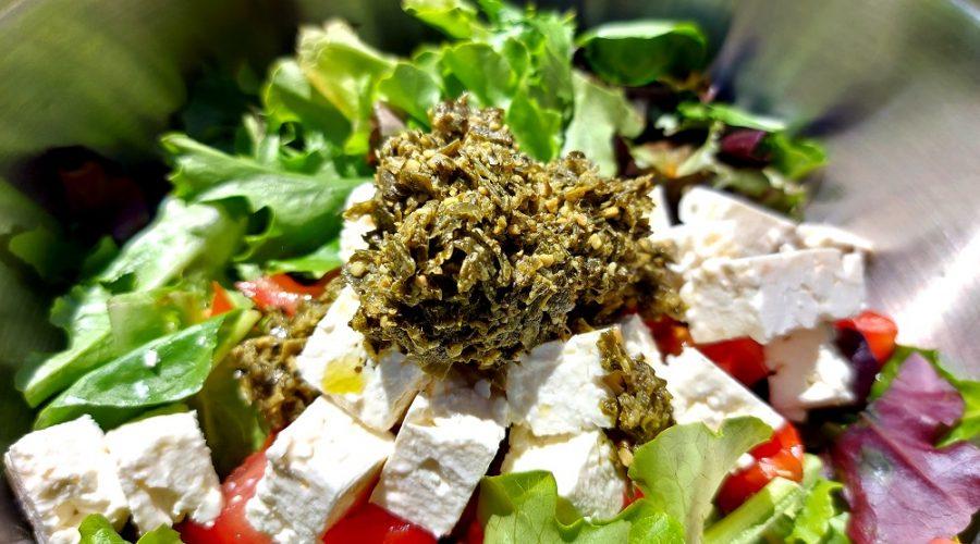 Salade composée au Pesto de Kombu Vegan