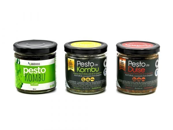 Gamme de Pesto aux algues de Seabiosis